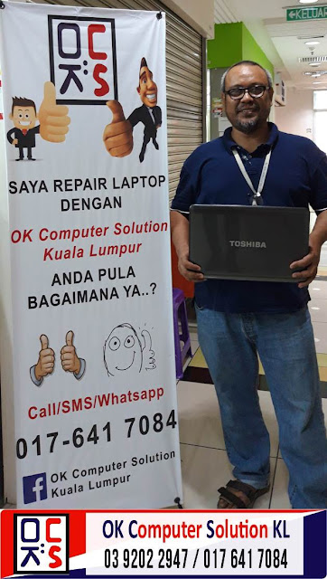 [SOLVED] MASALAH NO DISPLAY LAPTOP TOSHIBA | REPAIR LAPTOP AMPANG 7