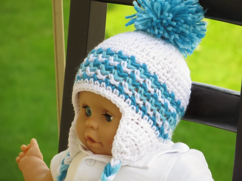 Lujoso Knit Hat Ear Flaps Pattern Ornamento Manta De Tejer Patrn