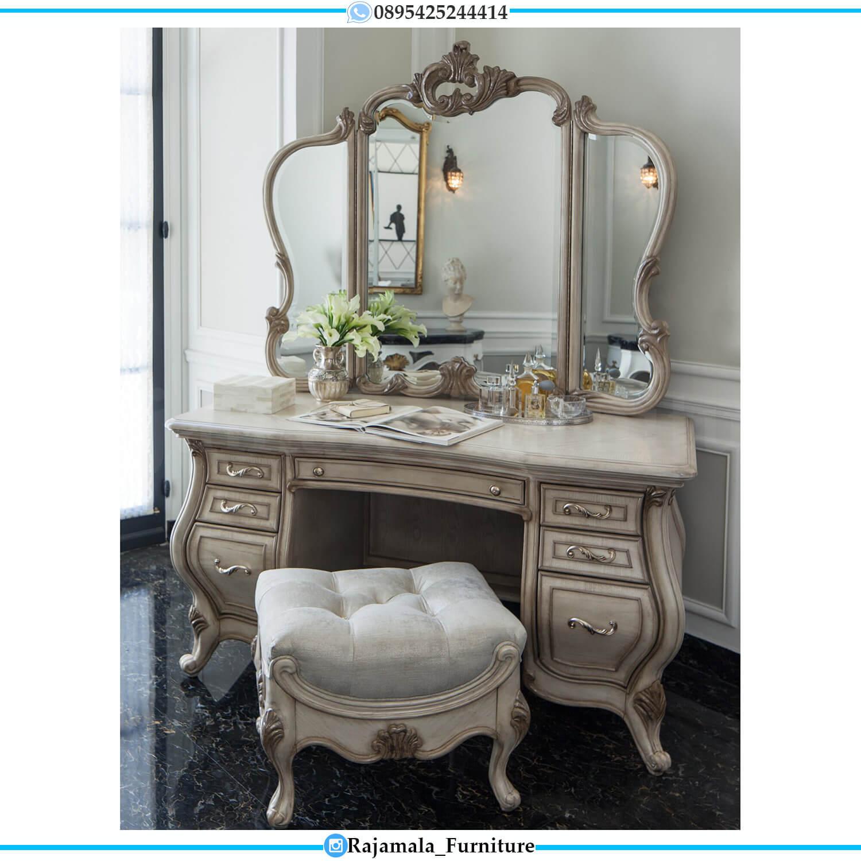Cermin Rias Ukir Set Meja Rias Mewah Terbaru Luxury Carving Jepara RM-0486