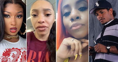 image result for eazy e daughters ebie and ReeMarkable beef after megan thee stallion release girls in the hood