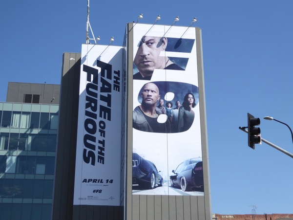 Giant Fate of the Furious movie billboard