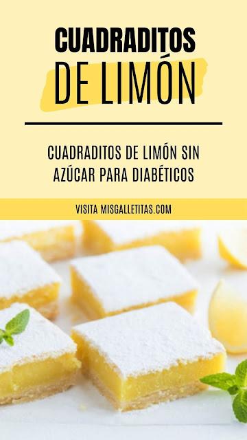 Cuadraditos de limón sin azúcar ¡Receta paso a paso!