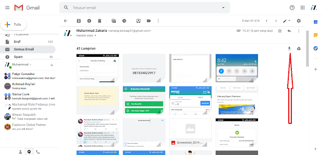 Cara Mudah Download Semua Gambar dari Email hanya dengan 1 Klik