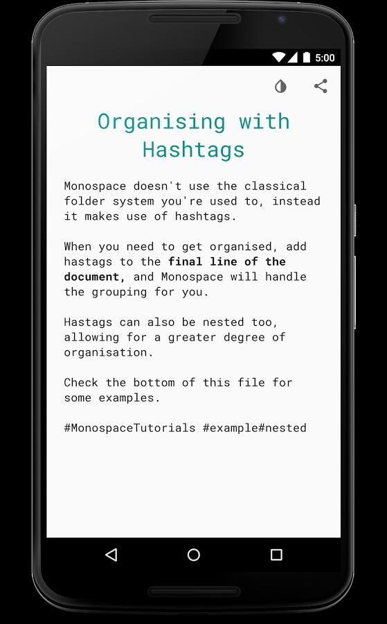 Monospace Writer hashtag