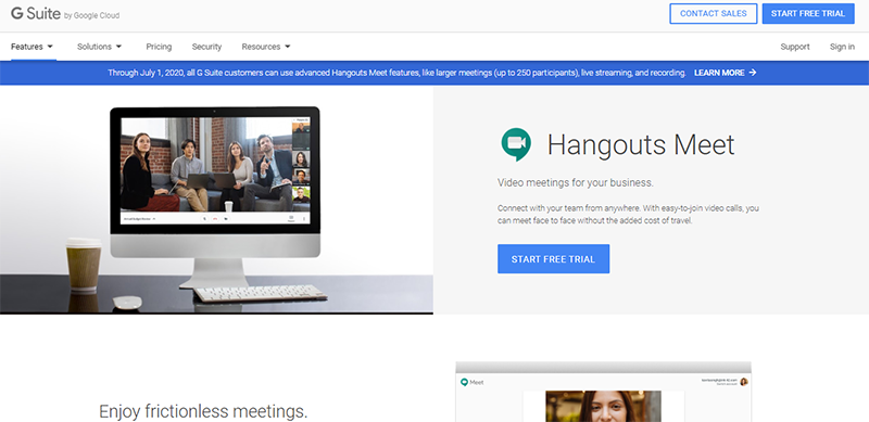Google Hangouts paid features is now FREE for those working remotely