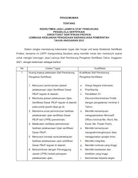 Lowongan Kerja S1 di LKPP April 2021
