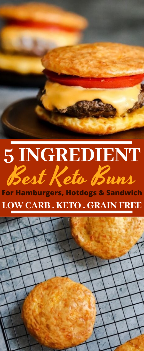 The Best Keto Buns #lunch #lowcarb #sandwich #diet #bread