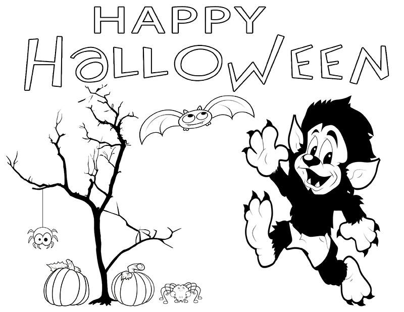 h is for halloween coloring pages - photo #37