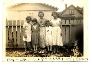 Weber Siblings in the backyard on Singleton Street, Indpls