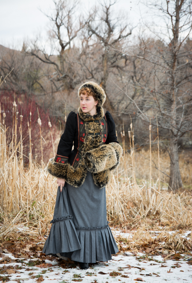 "Armstreet.com ""Russian Seasons"" coat, hat, and muff, styled with a 1880s skirt to create an Anna Karenina inspired outfit"