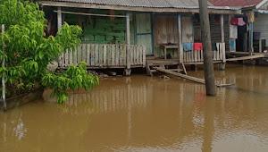 Banjir Meluas, Satu RT di desa Suak Putat Tenggelam