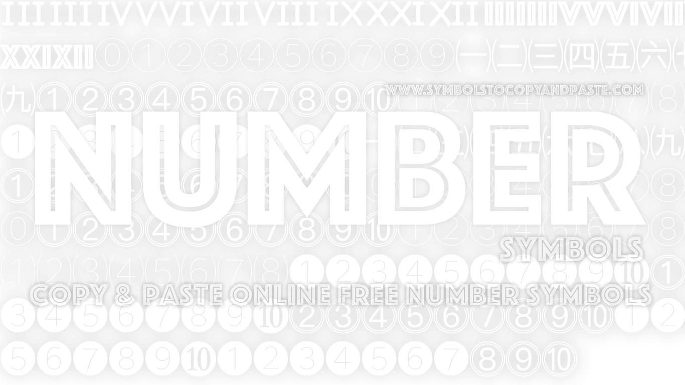 Numeric Symbols - Copy Online Free 10 Number Symbols