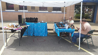 booth, Winnfield, Louisiana, handcrafted jewelry, July
