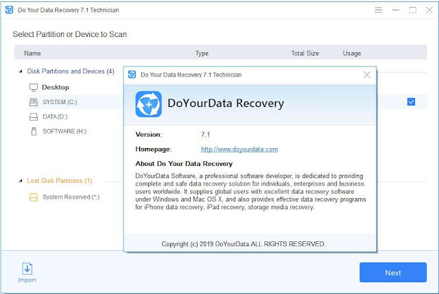 Screenshot Do Your Data Recovery 7.1 All Edition Full Version