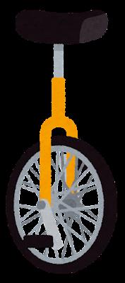 一輪車のイラスト(黄色)
