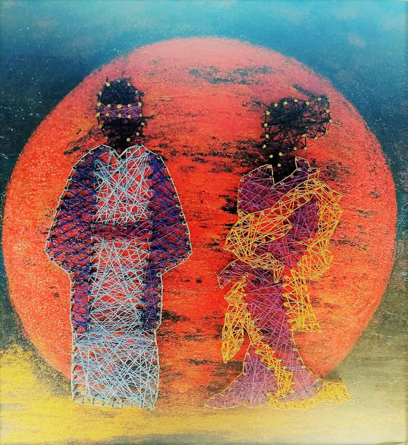 string art Chinese couple