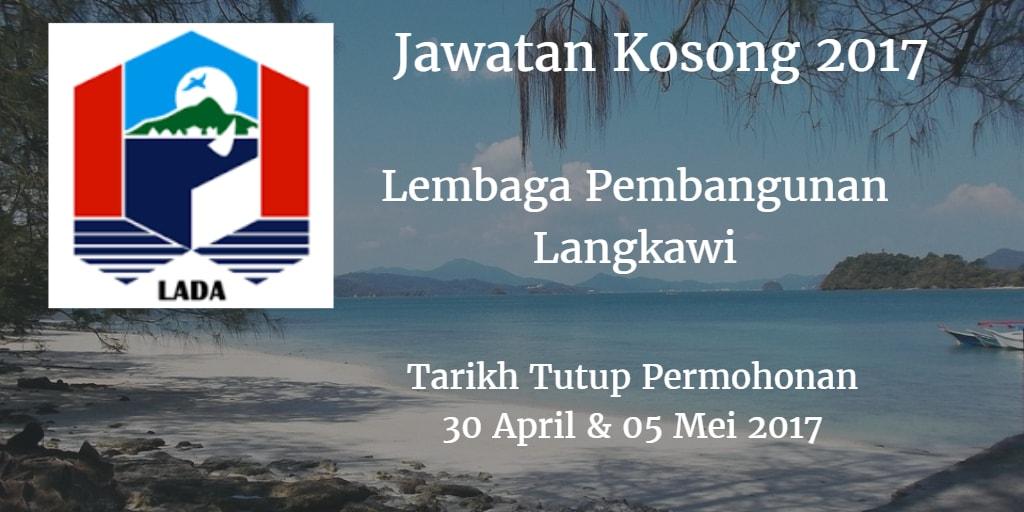 Jawatan Kosong LADA 30 April & 05 Mei 2017
