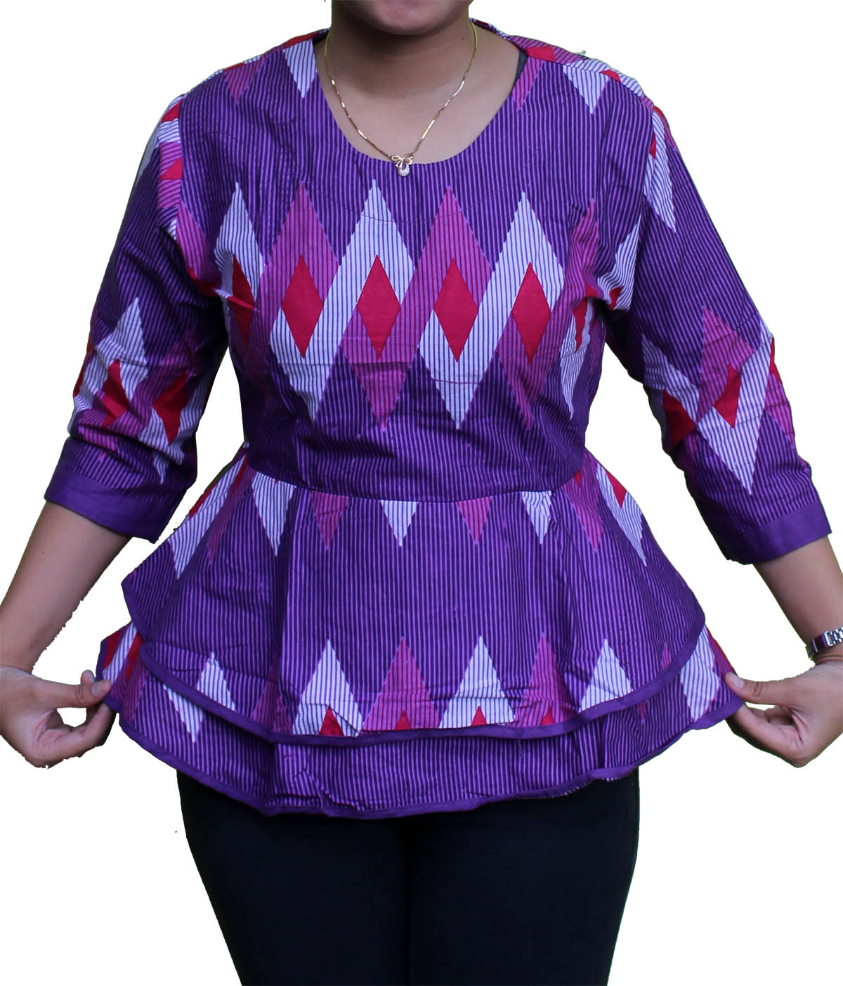 Model Baju Batik Kerja Untuk Tubuh Gemuk: 10 Model Baju Batik Rangrang Untuk Orang Gemuk Terbaru 2016