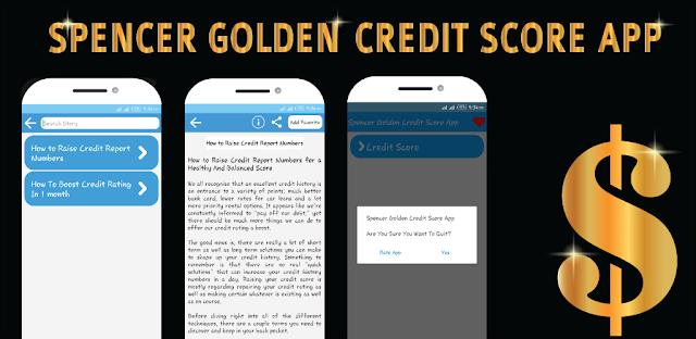Spencer Golden Credit Score App for google play store