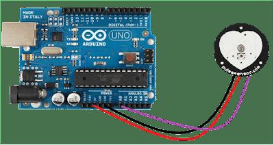 Rangkaian Pulse Sensor arduino