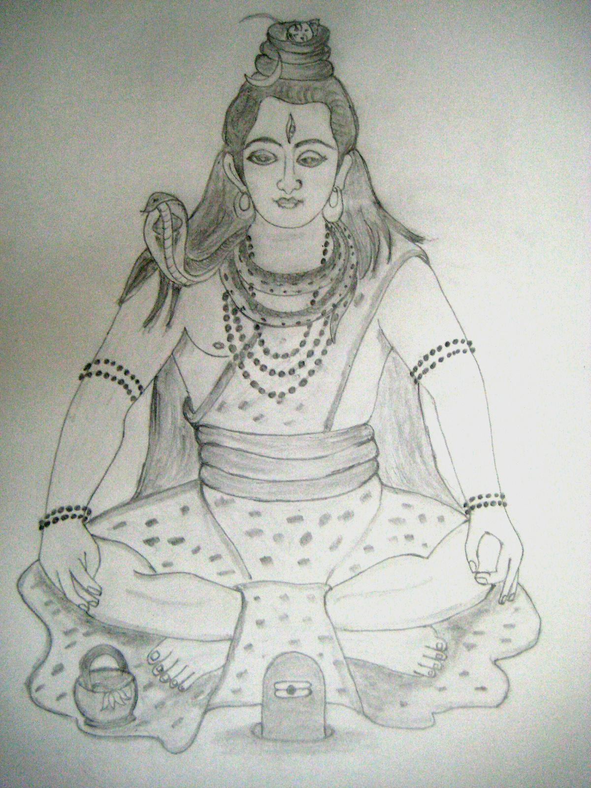 Lord shiva in meditation