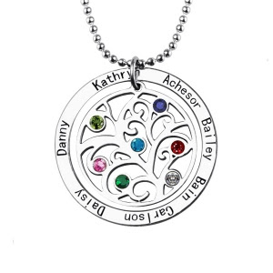 personalised family necklace from getnamenecklace