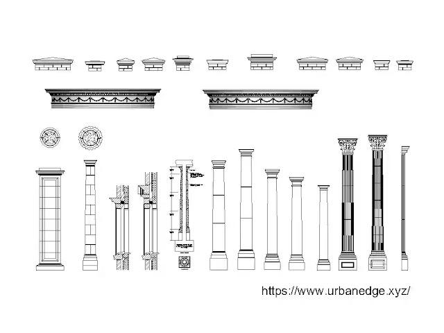 Classical architecture details cad blocks download, 25+ Cad Details