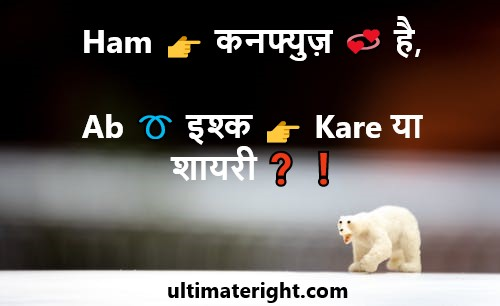 2 Line Best Funny Attitude Status For FB Messages in Hindi