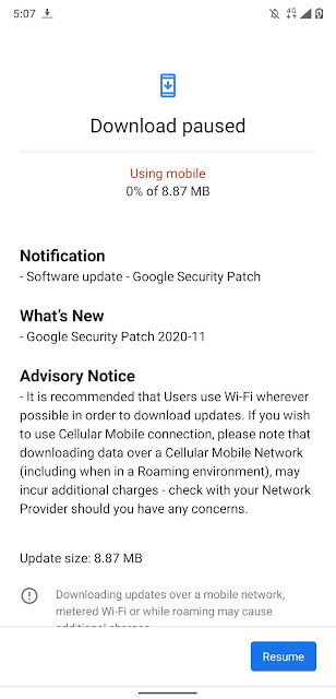 Nokia 8.1 receiving November 2020 Android Security patch