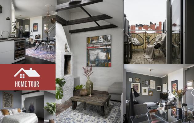 Πολύ ιδιαίτερα αρχιτεκτονικά και διακοσμητικά στοιχεία σε διαμέρισμα 103τμ