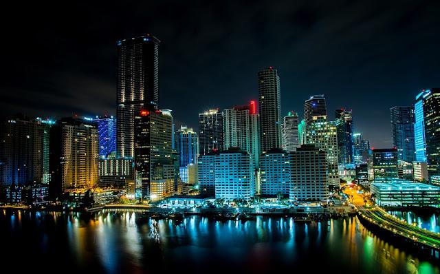 Do aeroporto de Miami para o centro da cidade