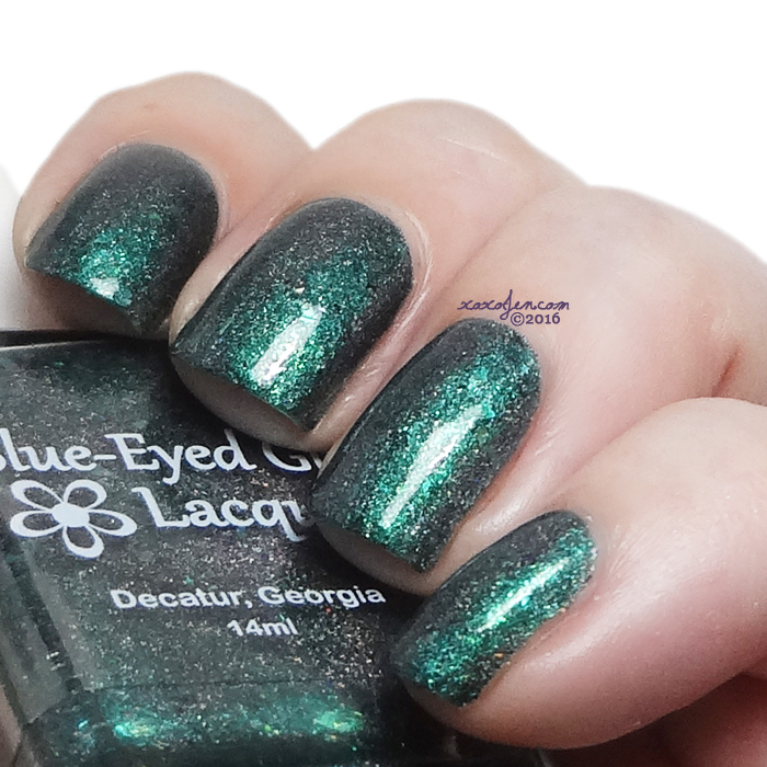 xoxoJen's swatch of Blue-Eyed Girl Green's Alexandrite With Me