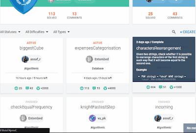 situs resmi codefights versi bahasa Indonesia Yakin kalian seorang programmer hkamul? uji kehebatanmu dengan programmer lain di seluruh dunia, Dapat job juga lho!!
