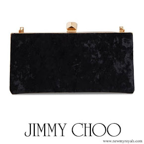 Kate Middleton carried Jimmy Choo Celeste clutch in black velvet