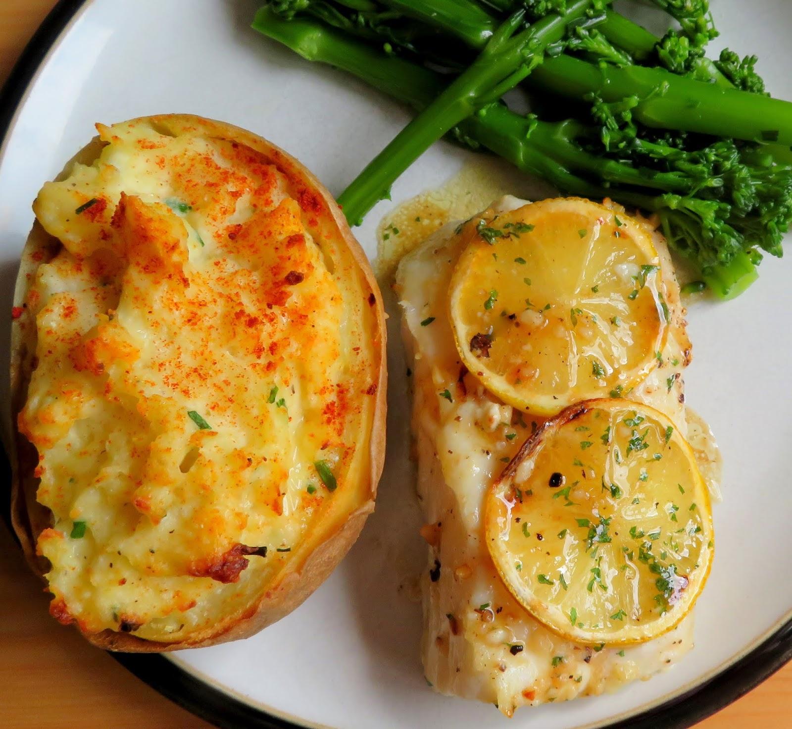 Lemon & Garlic Butter Baked Cod