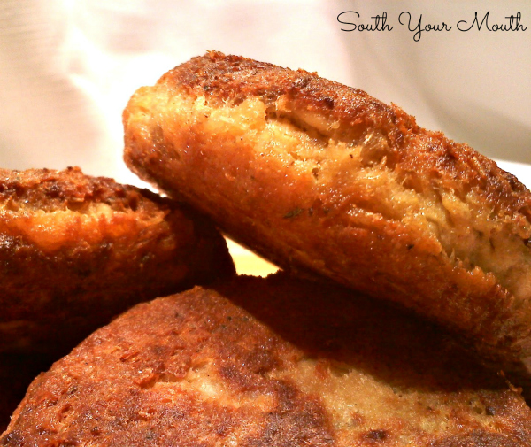 Southern Salmon Patties - A classic recipe for old fashioned Southern Salmon Patties (or Salmon Croquettes) using canned salmon and pantry ingredients pan fried until golden brown and delicious!