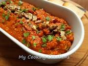 Мухаммара - арабска разядка с печени чушки и орехи * Muhammara - crema di peperoni e noci