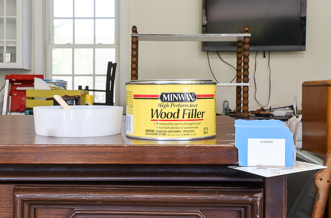 Wood Filler for repairing damaged corner on furniture