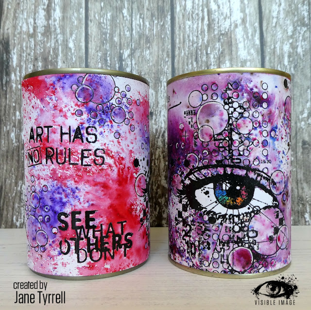 altered tins | stamping | mixed media | up cycling