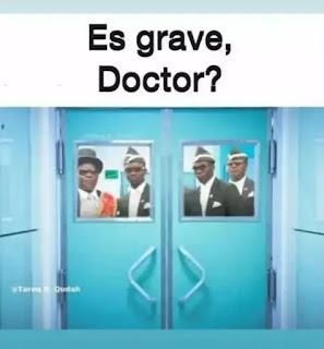 Puerta de hospital y los enterradores africanos