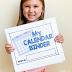Kindergarten Calendar Binder