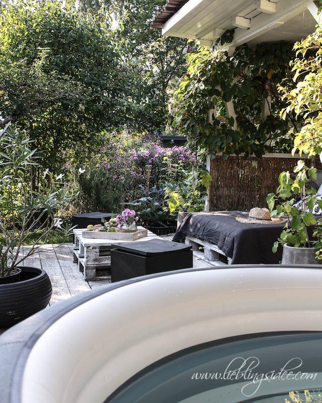 Gartengestaltung Palettensofa Beachhouse