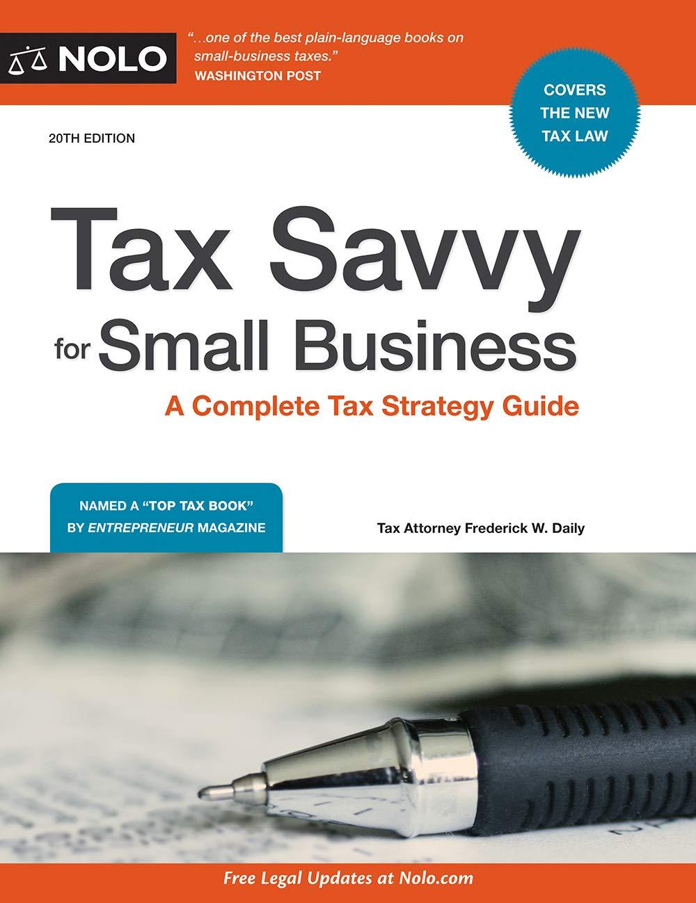 كتاب حساب الضرائب للشركات الصغيرة Tax Savvy for Small Business