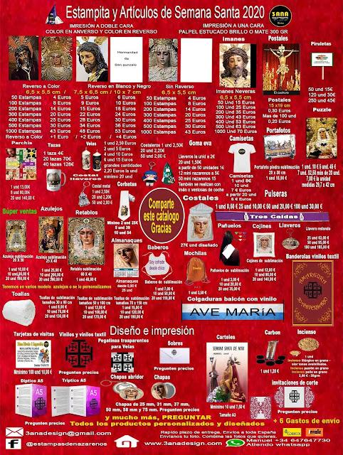 nueva tarifa de artículos religiosos y impresión