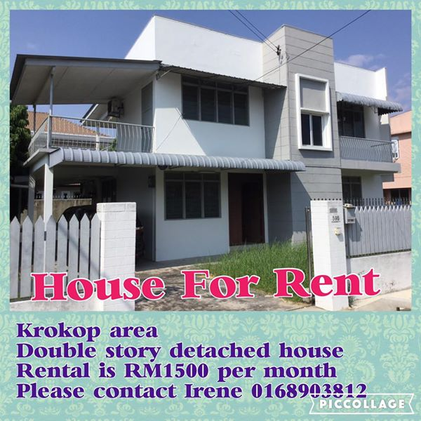 Krokop Area House FOR RENT RM1500 - Miri Property Market