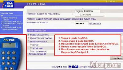 transfer internet banking bca