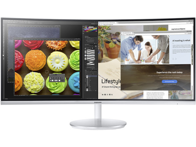 Samsung Quantum Dot Curved Monitor Split Screen