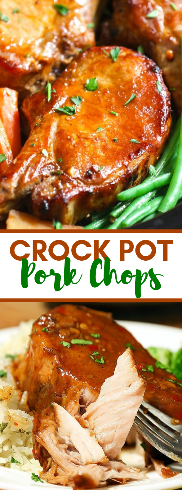 Crock Pot Pork Chops #dinner #slowcooker