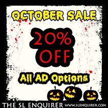 Advertise with SLE- 20% Off ADS FOR OCTOBER