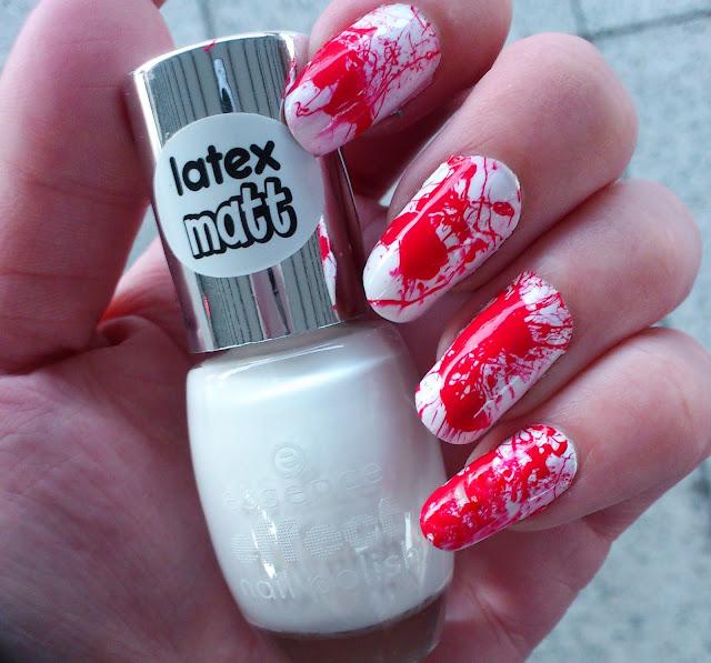Halloween Splatter Nails